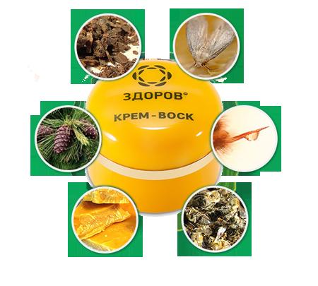 Состав крема «ЗДОРОВ» для лечения суставов