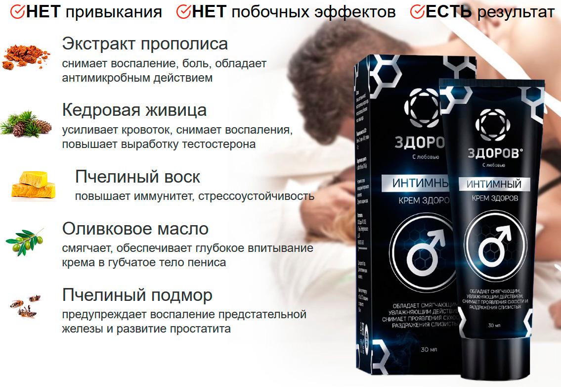 Покупка крема ЗДОРОВ для потенции